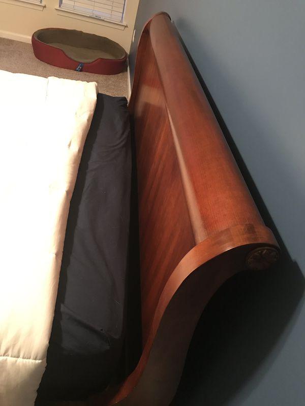 Cherry wood slay bed- Queen size