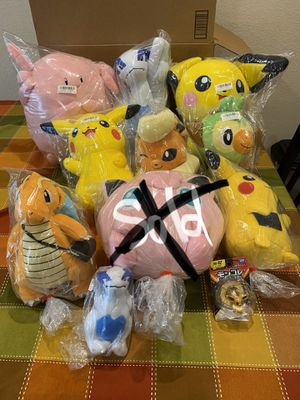 9 Pokémon Plushies and 1 Figure / New With Tags / Pick-up in Cedar Hill / Shipping Available for Sale in Cedar Hill, TX