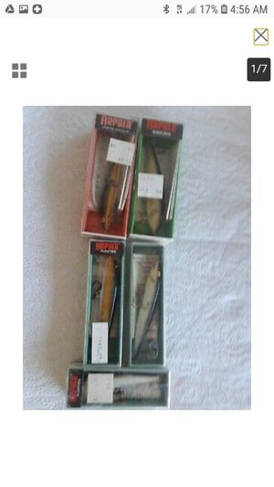 Rapala Five Vintage Fishing Lures In Orginal Boxes for Sale in Sugar Hill, GA