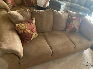 Matching Taupe Suede Sofa and Loveseat for Sale in Hyattsville, MD