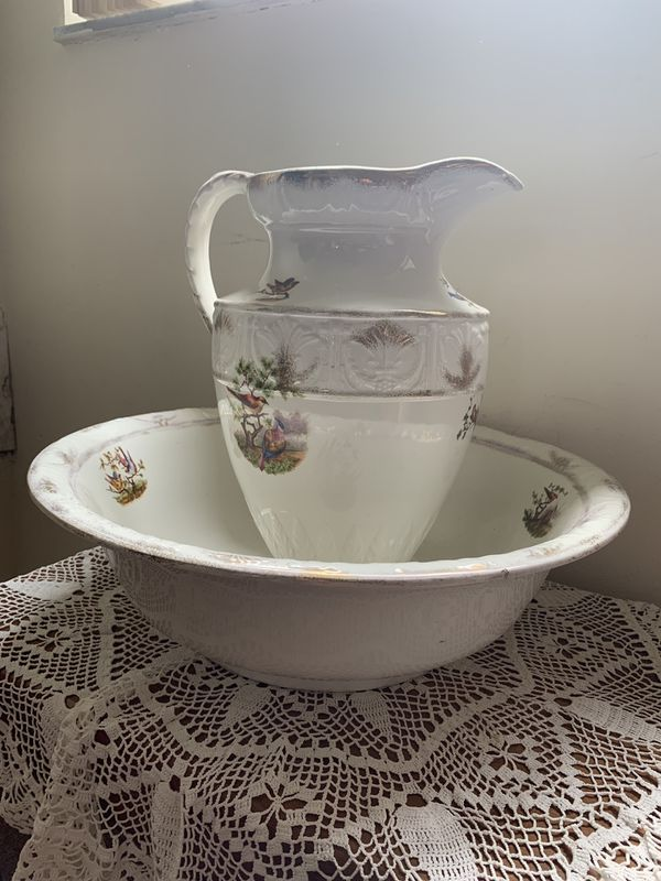Antique English pitcher & Bowl set