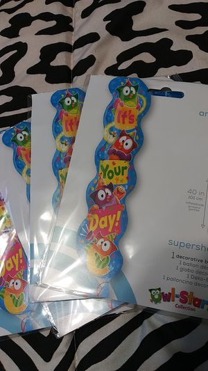 Owl birthday balloons-lot of 4 for Sale in Houston, TX