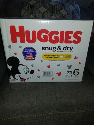 Huggies diapers #6 for Sale in Lanham, MD