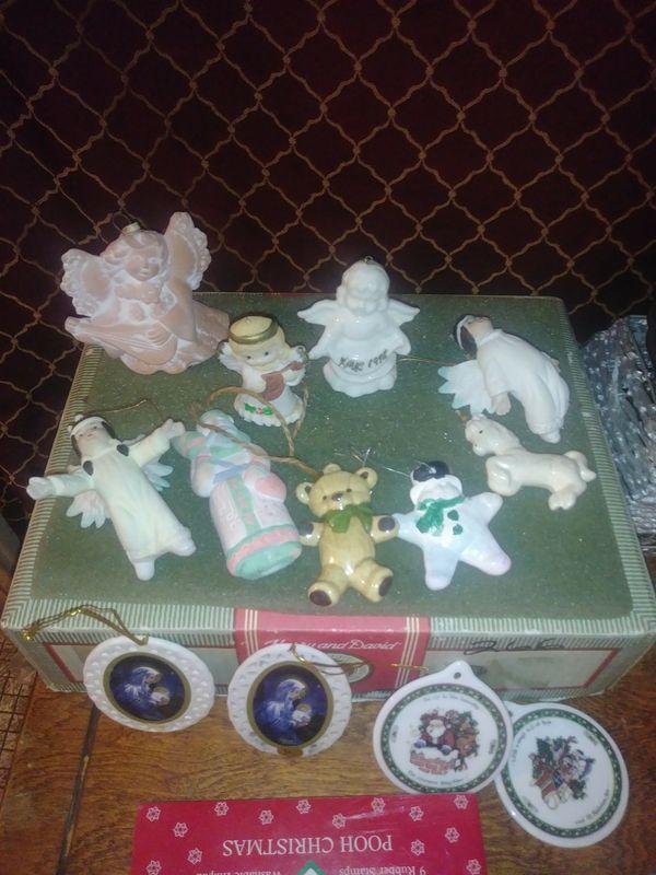 Vintage Handpainted/Beaded Ornaments, etc