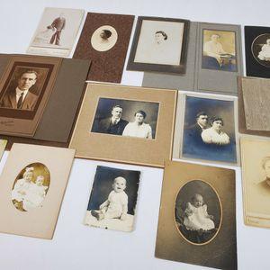 Lot Of 14 Vintage Cabinet Photographs & Other Circa 1900-1930 (Infants & Children etc.) for Sale in Trenton, NJ