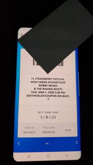 Bobby Bones Strawberry Festival Tickets for Sale in Alafaya, FL