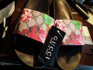 Pink Floral Gucci Slippers $149 no less for Sale in Grand Prairie, TX