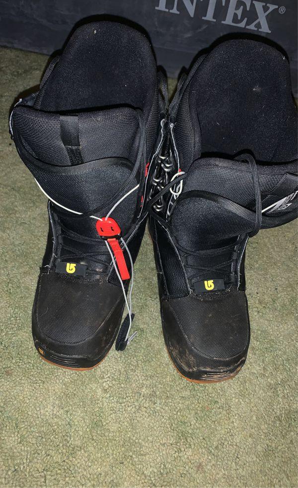 Burton Snowboard, Size 12 Boots & Bindings