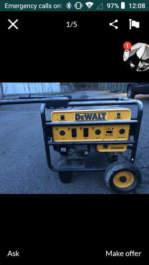 DeWalt generator dg6000 for Sale in Springfield, OR
