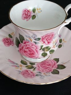 Elizabethian Pink Rose on Pink Bone China for Sale in Palmdale,  CA