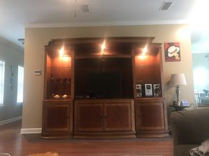 Solid wood entertainment center for Sale in Tull, AR
