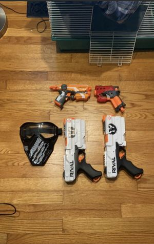 Nerf and rival guns barley used for Sale in Raleigh, NC
