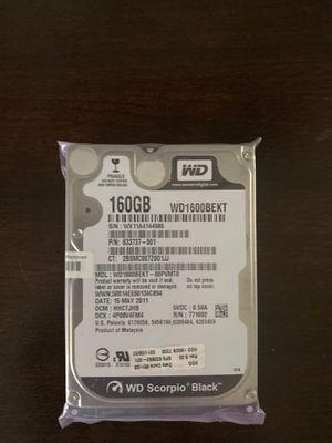 "160 Gb Hard drive 2.5"" 7.2k RPM for Sale in Del Rey, CA"