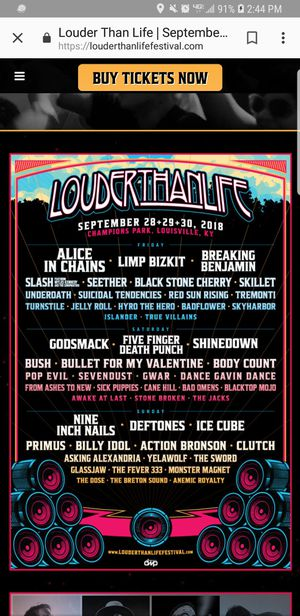 Pair of weekend louder than life tickets for Sale in Delaware, OH