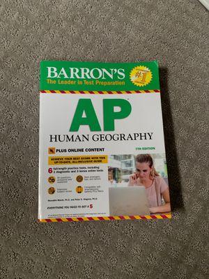 AP Human geography Barrons prep book for Sale in Alexandria, VA