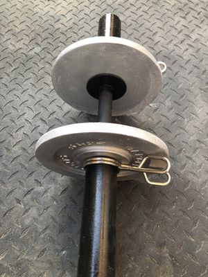 Single Olympic dumbbell with Two 5 pound weight plates... $30 OBO for Sale in Glendale, AZ