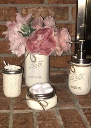 Rustic Mason Jar bathroom set for Sale in Virginia Beach, VA