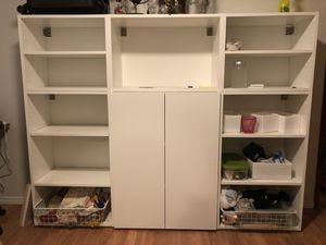 Custom Ikea bookcase/shelves in white for Sale in San Diego, CA