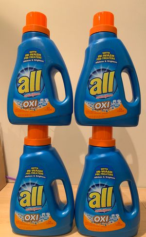 4 All Oxi laundry detergent for Sale in Alexandria, VA