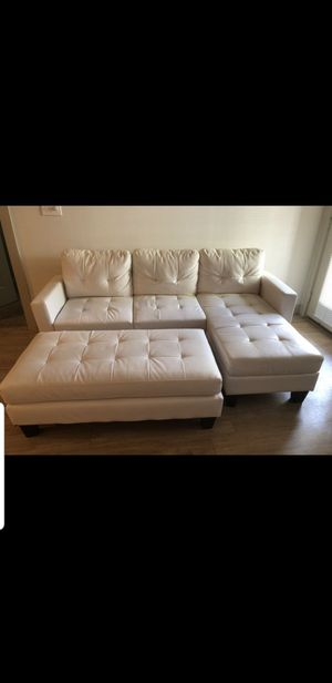 White leather couch for Sale in Pflugerville, TX