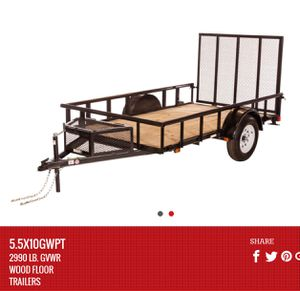 Carry-on Utility Trailer Model #GWPT 5.5' x 10' for Sale in Tooele, UT