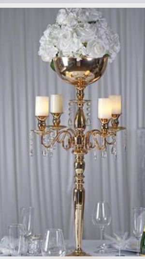 Tall gold candle holder for Sale in Katy, TX