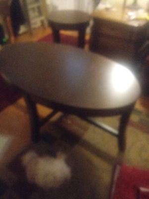Nice oval Cherry coffee table and one end table for Sale in Salem, VA