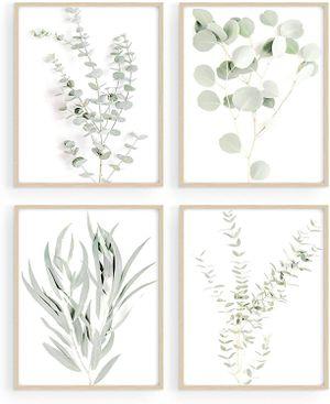"Set of 4 Leaves Wall Art Kitchen Decor, Boho Eucalyptus Leaf Prints (11""x14"", UNFRAMED) for Sale in Fremont, CA"