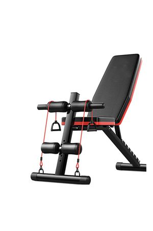 Adjustable Weight Bench w/ Auxiliary Rope Puller,Foldable Sit Up Bench Trainer Supine Board for Sale in Downey, CA