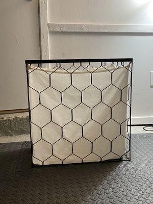 Geometric Metal Laundry Basket for Sale in Greenwich, CT