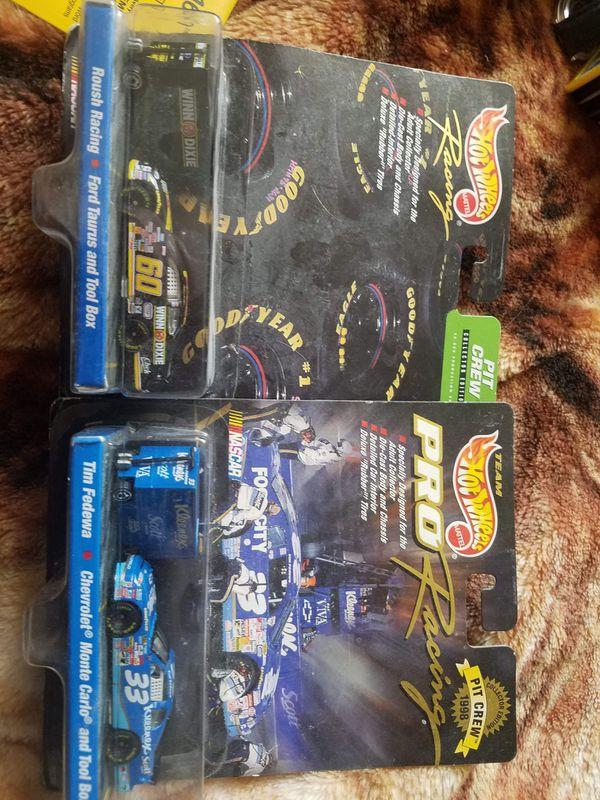 2 new in package nascar hotwheels