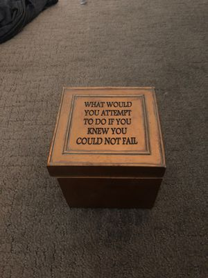 Inspirational gold quote jewelry storage box for Sale in Huntington Beach, CA