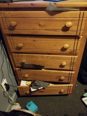 Wooden dresser for Sale in Mount Pleasant, MI