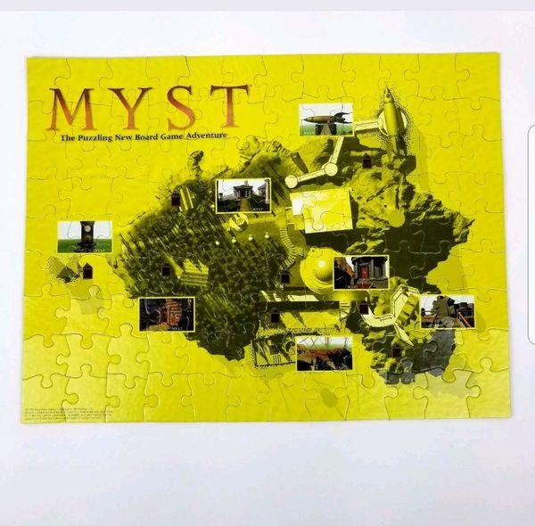 MYST Vintage Jigsaw Puzzle Board Race Adventure University Game 1998 COMPLETE