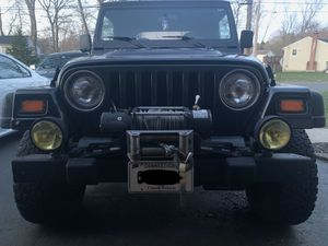 Jeep Wrangler Front Bumper with KC Daylighters for Sale in North Haven, CT