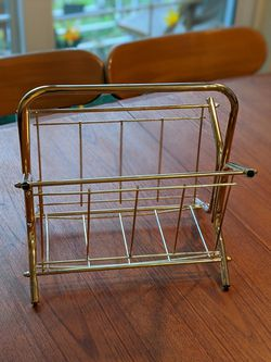 Mid Century Brass Magazine Rack for Sale in Miramar,  FL