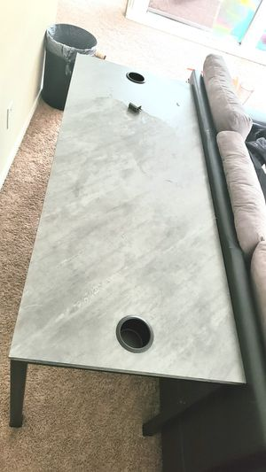 Grey desk for Sale in Sugar Land, TX