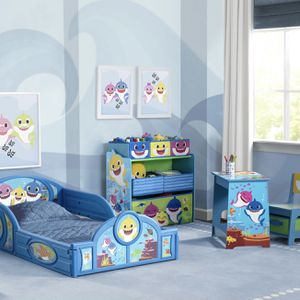Brand New Baby Shark Full Bed Room Set Kid Toddler Bed Desk Chair Toy Organizer Bin for Sale in Atlanta, GA