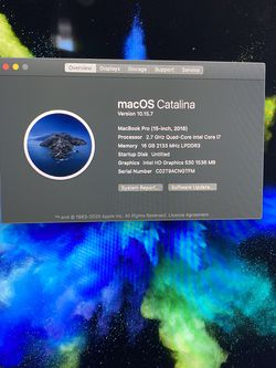 2016 MacBook Pro Touch Bar for Sale in Los Angeles,  CA