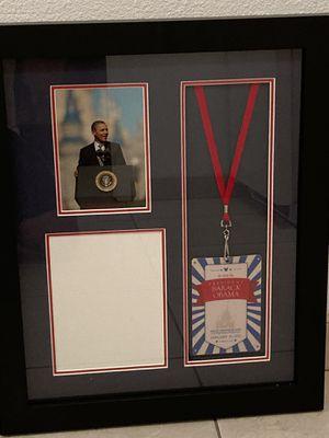 Framed Barack Obama Walt Disney visitation credential for Sale in Auburndale, FL