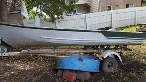 13ft Metal boat with trailor 350 for Sale in Flint, MI
