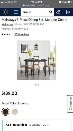 5 pice dining set. for Sale in Chicago, IL