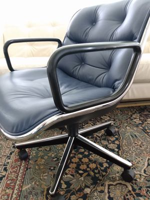 Knoll Charles Pollock Leather Office Chair. for Sale in Pembroke Pines, FL