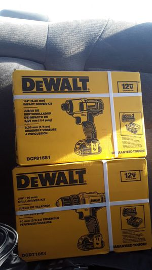 Dewalt impact drill/driver kit both brand new for Sale in Kissimmee, FL