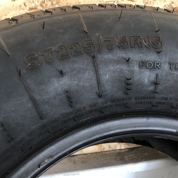 4 Semi New Tires for Trailer