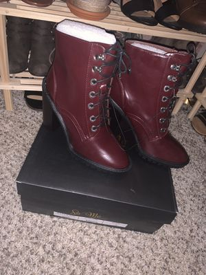 Red heeled boots size 6 for Sale in Phoenix, AZ