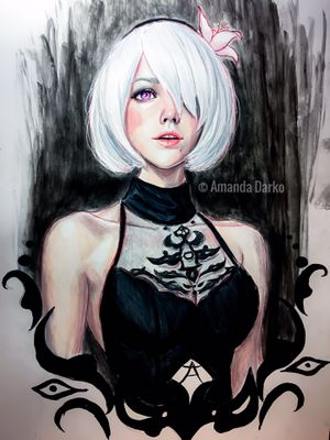 2B - Nier Automata Drawing for Sale in Centerville, GA