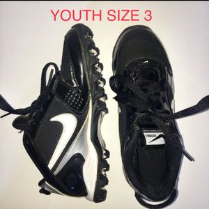 Nike Football Youth Cleats - Youth Size 3 for Sale, used for sale  San Leandro, CA