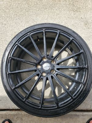 4 Toyo 245/35/20 tires mounted on Sporza Sidnature Series 15 spoke matte black rims 4 1/2 on 5 bolt pattern for Sale in Hacienda Heights, CA