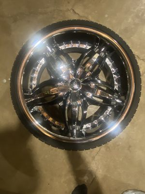 Diablo Wheels Angel Chrome with Black Inserts for Sale in Plainfield, IL